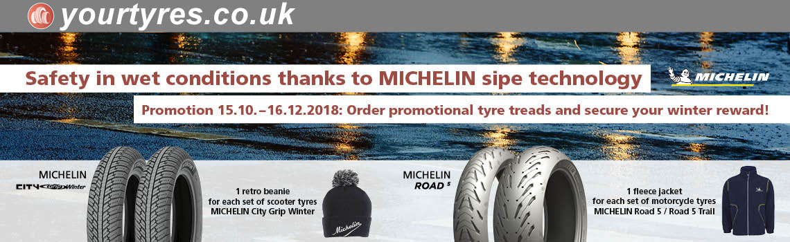 Michelin motorcycle tyre power package 2018